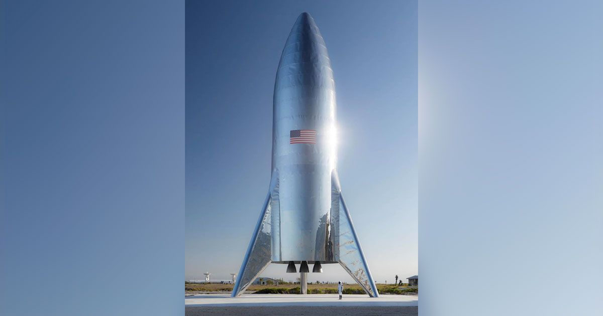 Elon Musk shares photo of SpaceX's first Starship