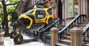 At CES 2019, automaker Hyundai unveiled a concept video and 1:8 scale version of Elevate, a walking car designed to navigate rough terrain.