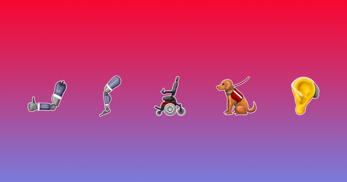 Inclusive New Emoji Include Prosthetic Arms and Legs