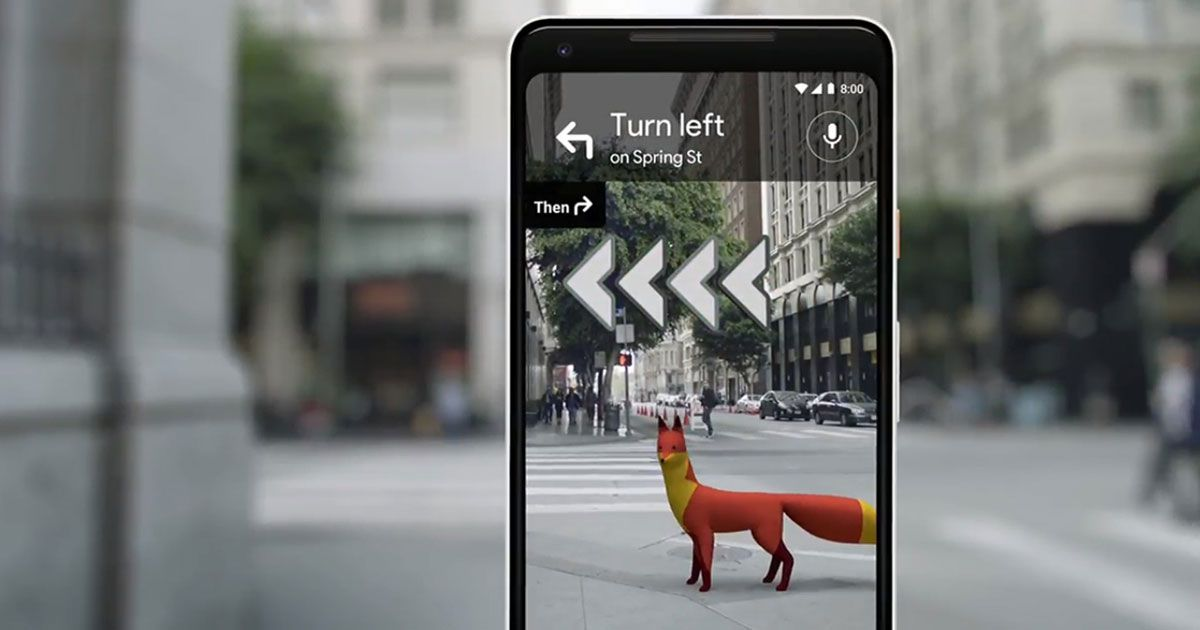 Google Is Rolling out AR Navigation for Its Maps App on google voice app, apple maps app, google facebook app, google places app, google maps app windows 8, google voicemail app, google docs app, google navigation app icon, google earth app,