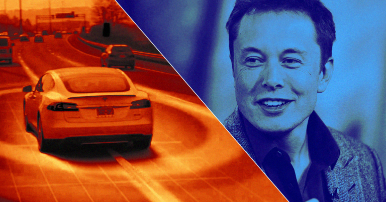 Elon Musk and his driverless Tesla