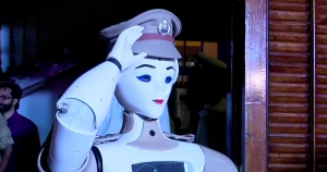 Indian police just swore in KP-Bot as a sub-inspector. The robot police officer will work behind the front desk and direct visitors as needed.