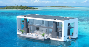 This self-sustaining livable yacht has everything you'd need to live off the grid if climate change rendered the land uninhabitable.