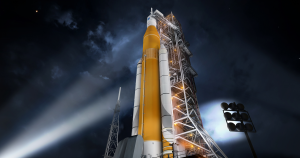 NASA administrator Jim Bridenstine suggested NASA might use a commercial rocket to boost its Orion crew capsule around the Moon in 2020.