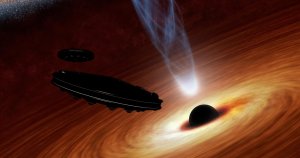 A new papersuggests that we could spot an alien civilization by looking for signs of starships powered by the radiation thrown off by small black hole.