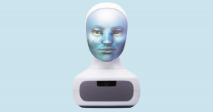 An AI-powered robot head named Tengai could make the applicant screening process less biased while still providing a