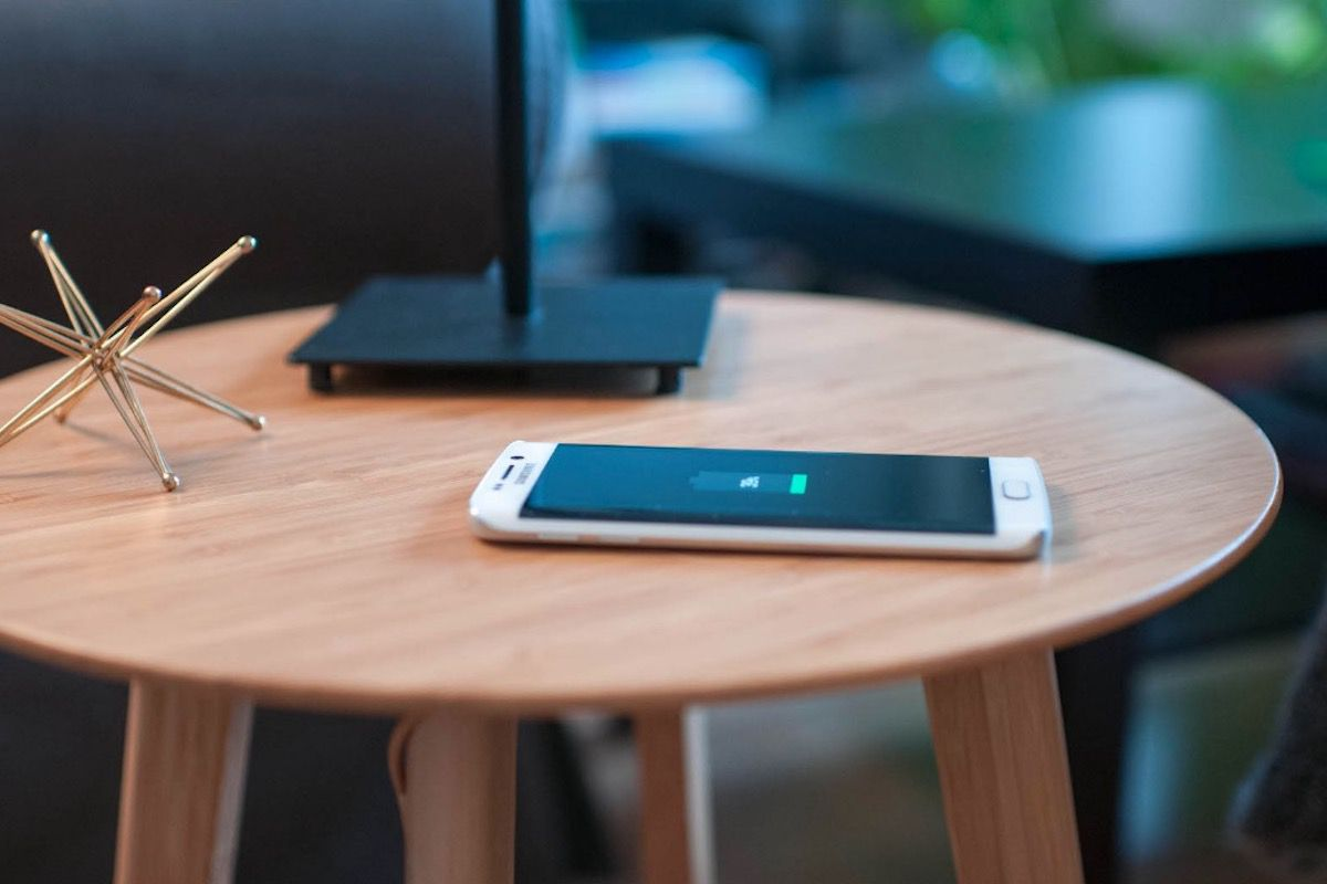 Wireless Charging Station Table
