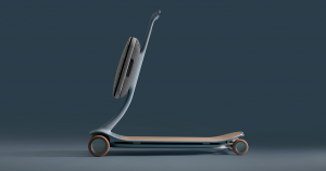 UK-based design agency Layer teamed up with Chinese electric car maker Nio to create a smart scooter that can learn where you want to go.