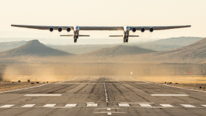 The Stratolaunch, the world's biggest airplane, just completed its first test flight, putting us one step closer to cheaper launches into space.