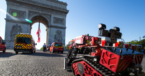 When the Notre Dame blaze got too dangerous for humans to continue battling, the Paris Fire Brigade called in a firefighting robot named Colossus.