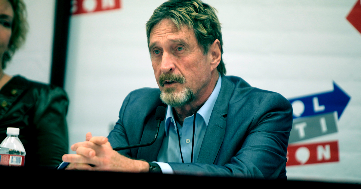 Shocker: John McAfee Suspends Plan to Unmask Bitcoin's Creator