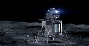 Jeff Bezos' private space company Blue Origin revealed its plans to go to the Moon at a mysterious press event today, including a lunar lander design.