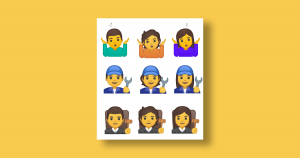 Google is launching a series of gender-fluid emoji for its smartphones, the latest example of efforts to make the tiny symbols more inclusive.