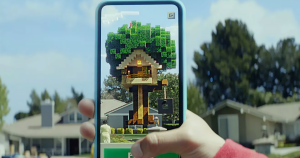 """""""Minecraft Earth,"""" announced today, will allow users to collect items, blocks, and creatures while roaming around in the real world with friends."""
