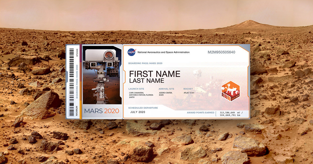 You Can Now Send a Souvenir With Your Name on it to Mars