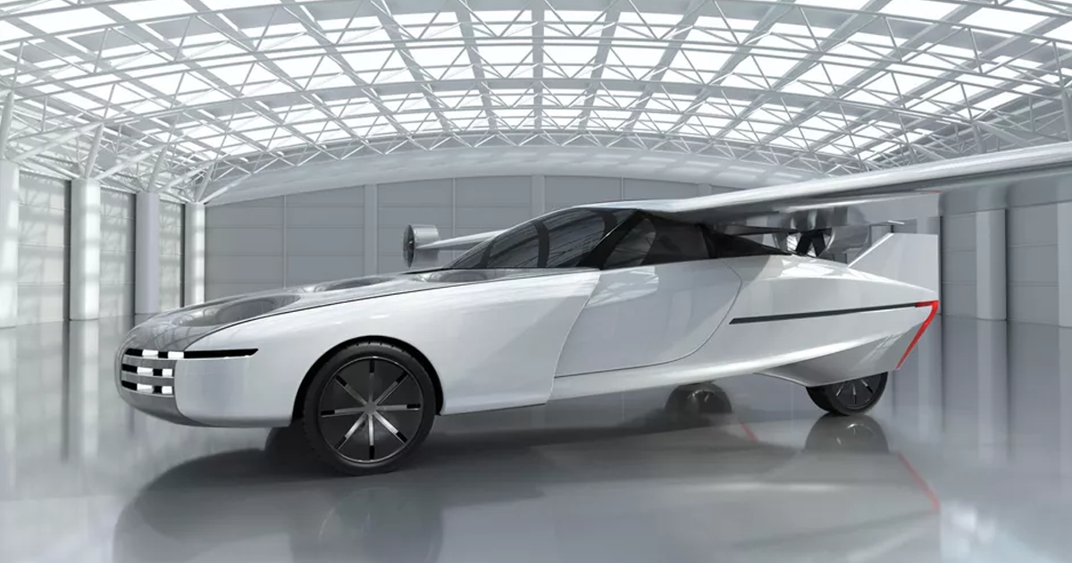 Startup Unveils Freakish Looking Flying Car With Folding Wings