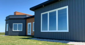 JD Composites used more than 600,000 recycled plastic bottles to construct this beachfront home in Meteghan River, Nova Scotia.