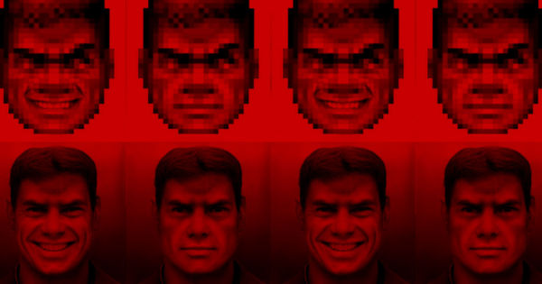 Someone Used a Neural Network to Draw Doom Guy in High-Res