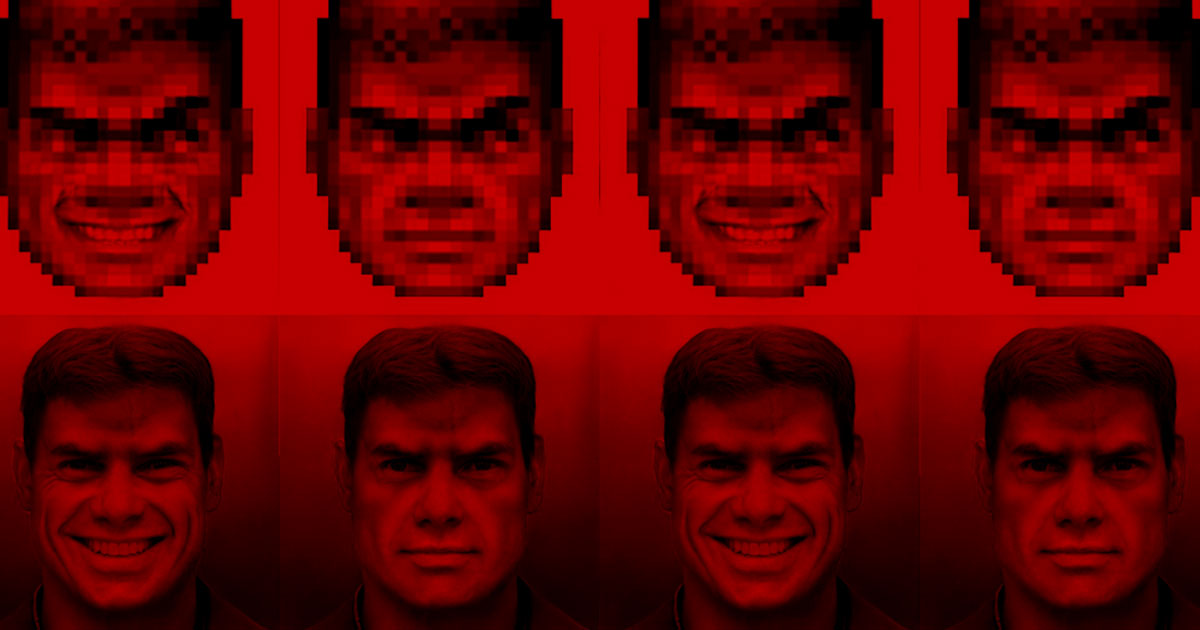 Someone Used A Neural Network To Draw Doom Guy In High Res