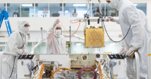 NASA is livestreaming a video feed from the JPL clean room where it's currently assembling and testing the Mars 2020 rover.
