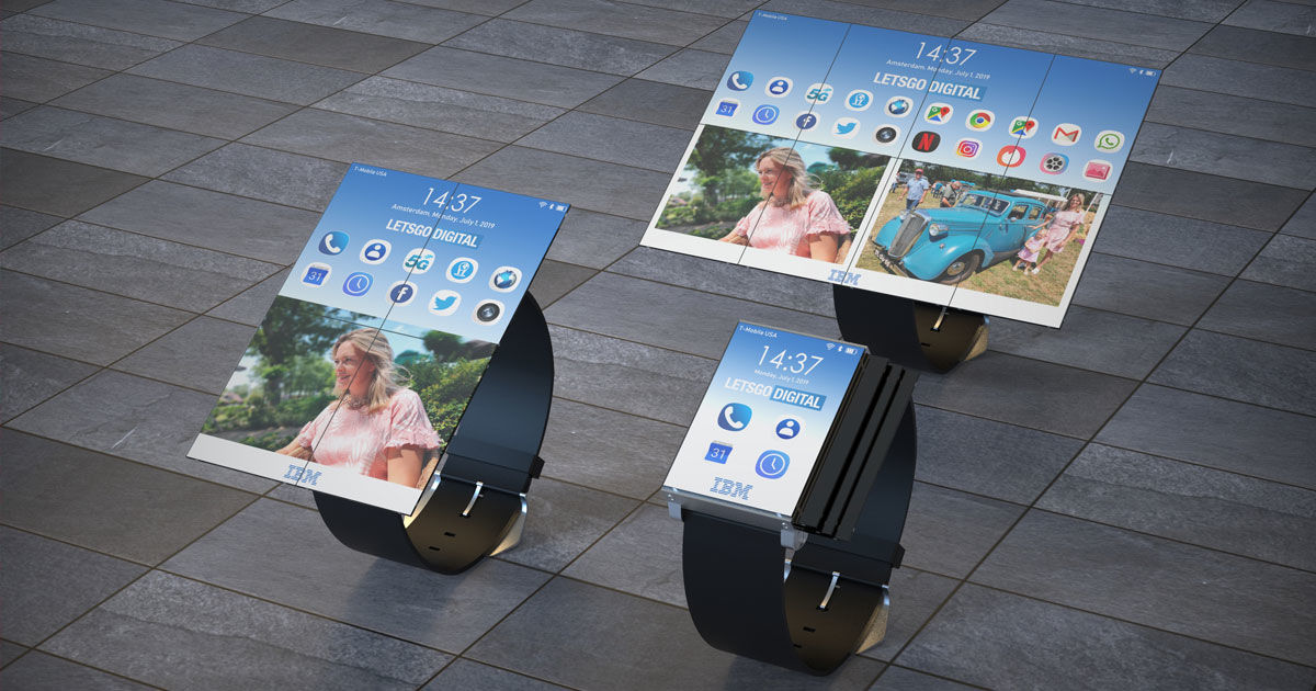 IBM patented a goofy-looking watch that folds into a tablet