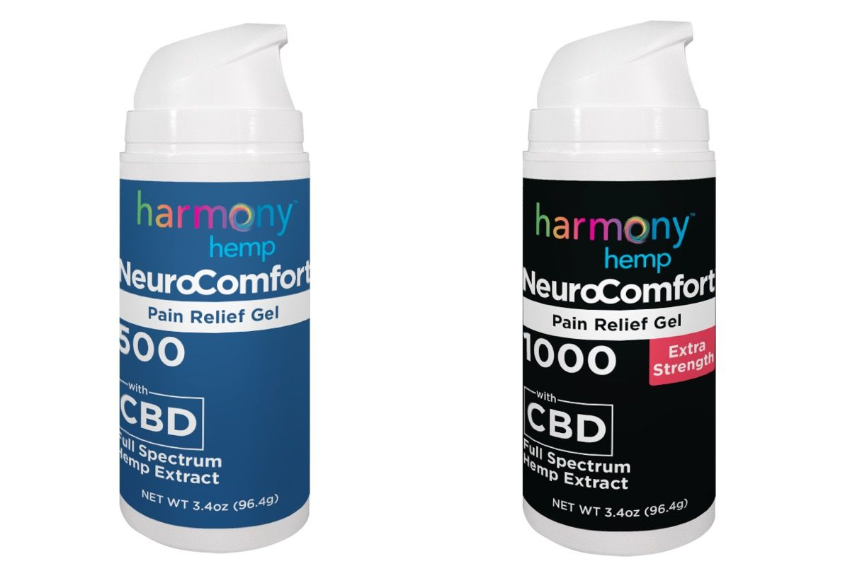 NeuroComfort Gel by Harmony Hemp provides CBD for pain.