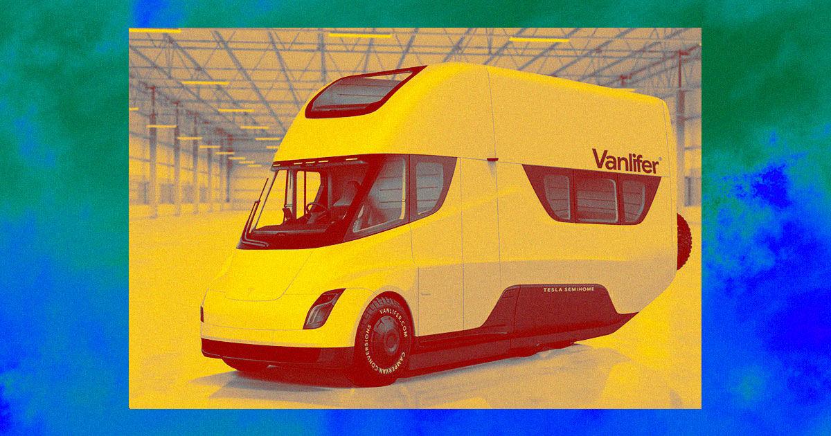 Startup Transforms Tesla Semi into Beautiful Motorhome Concept