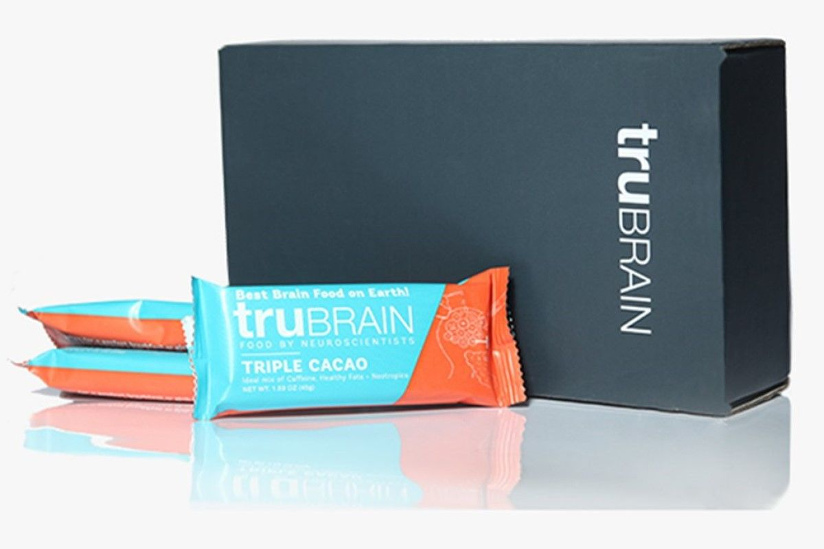 A box of Trubrain bars.