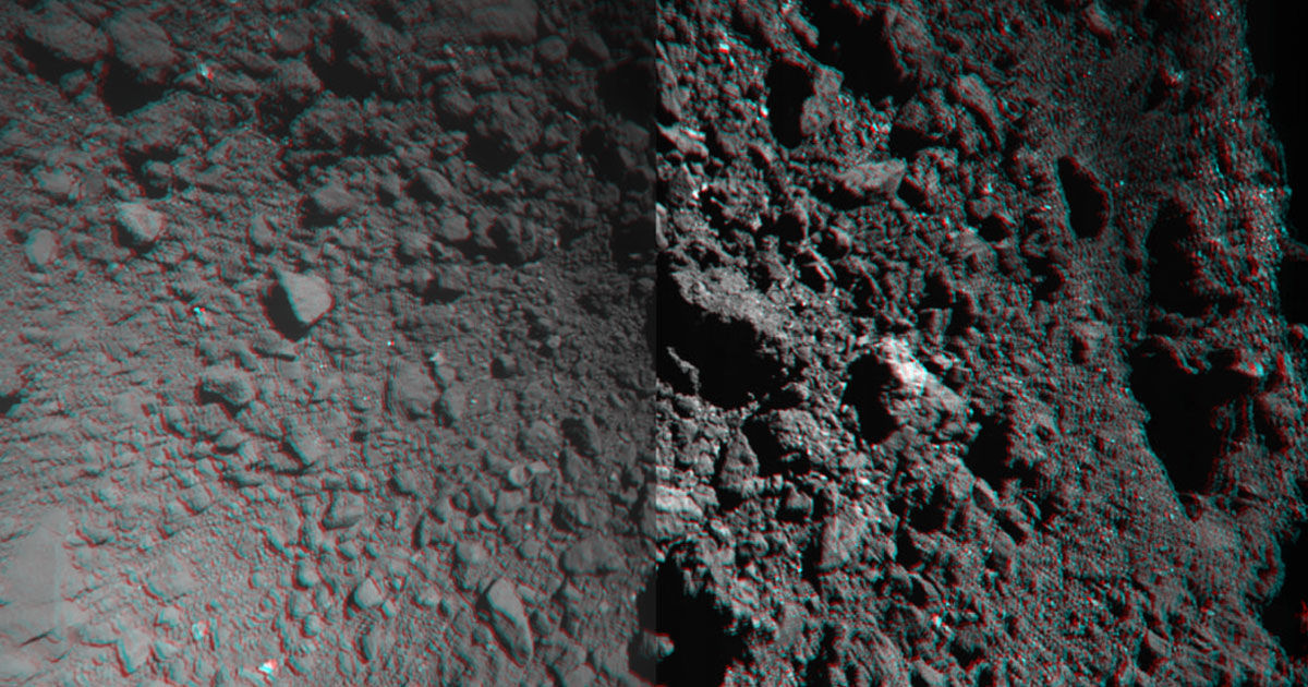 Watch a Japanese Spacecraft Grab Rock Samples From Tiny Asteroid