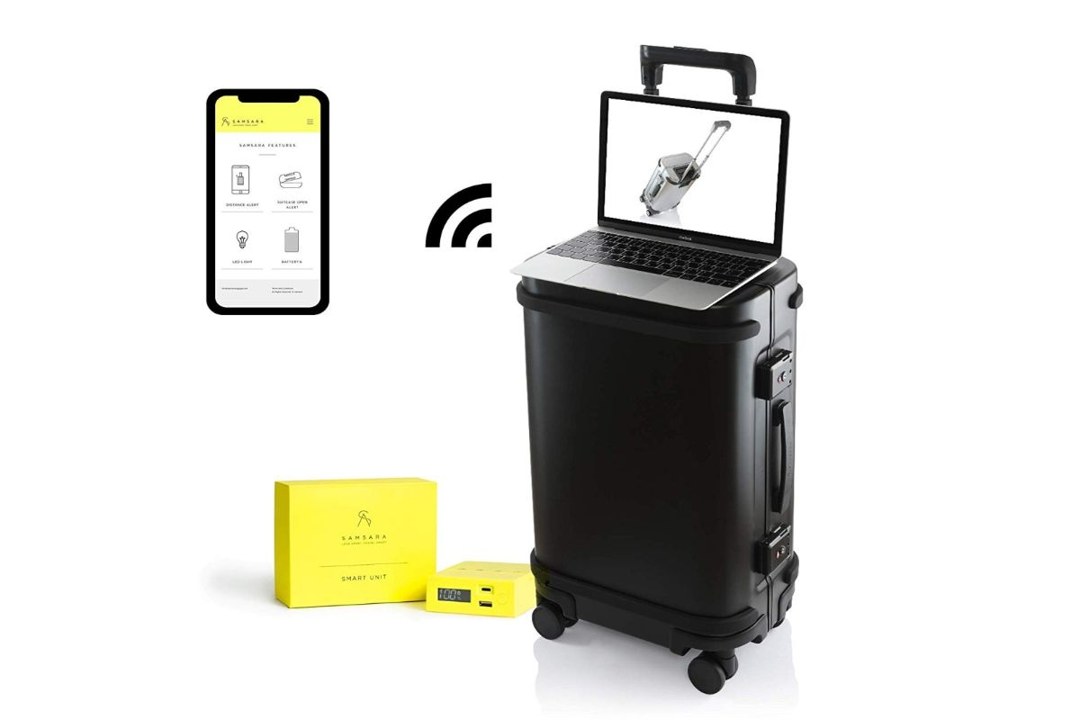 The Samsara suitcase is the ultimate smart luggae.
