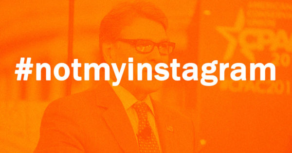 Instagram Hoax Fools Department of Energy Head Rick Perry