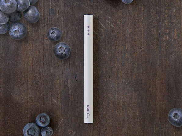 A berry vape pen from DomCBD.