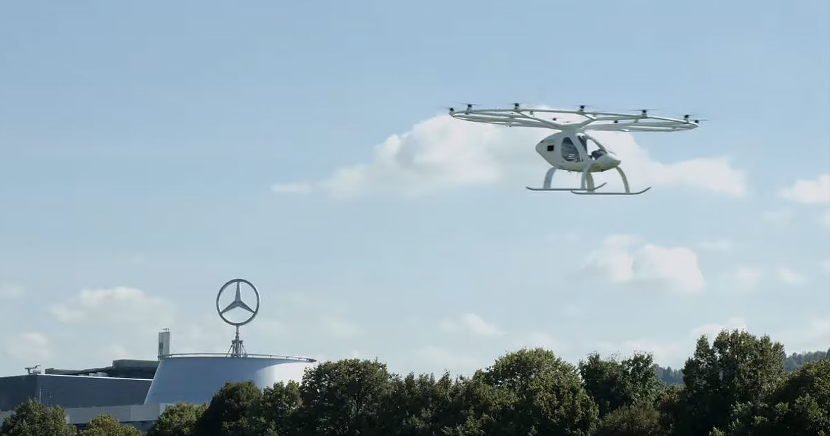 Watch This Flying Taxi Soar Over a German City
