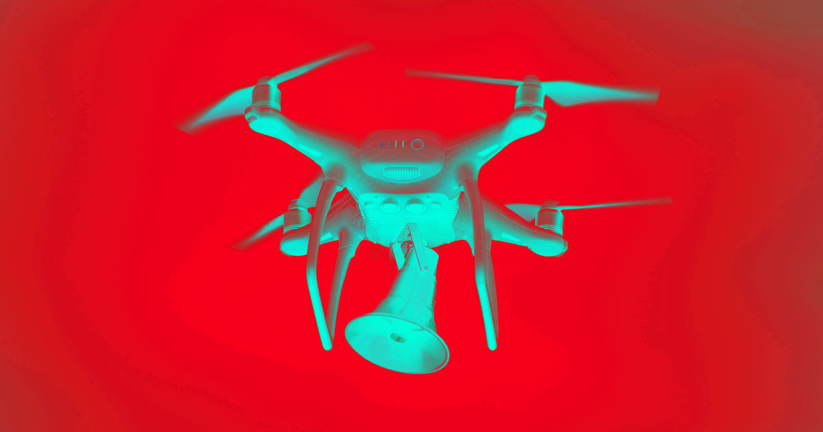 Police Drone Caught Barking Orders at Chinese Driver