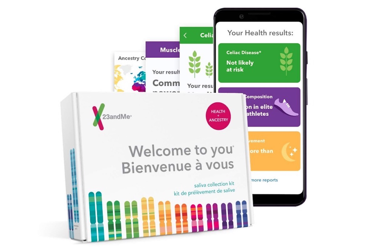 23andMe DNA test for health info.