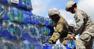 A Pentagon report found that Army soldiers' heavy reliance on bottled water won't be sustainable in the future due to climate change.