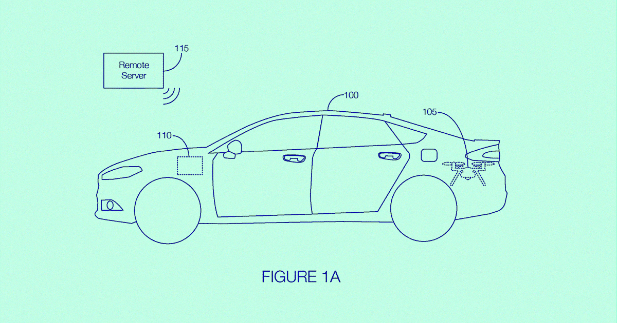 Ford Patents Drone That Pops Out of a Car's Trunk