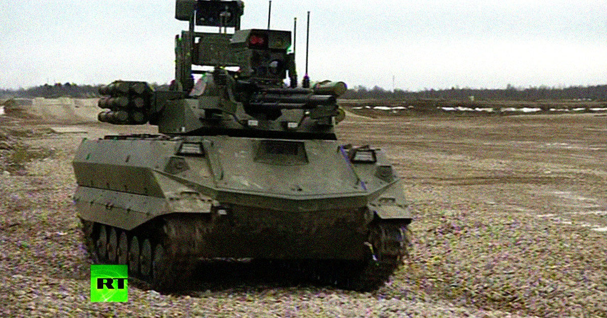 Russia's Semi-Autonomous Robot Tanks Were Utterly Useless in Syria