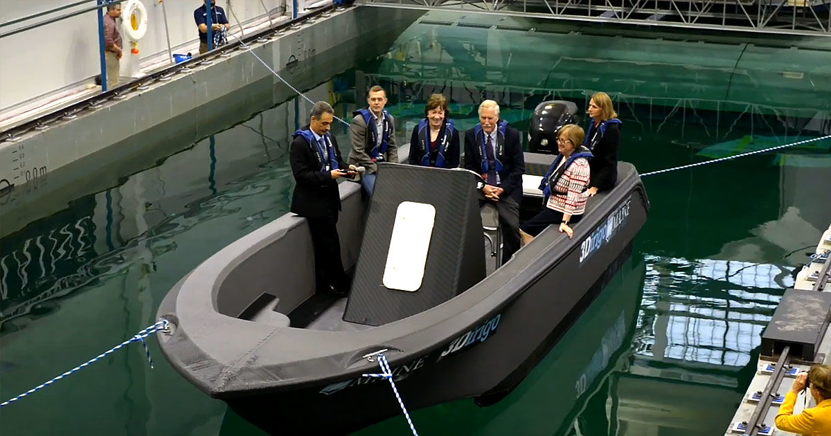 Watch a Giant 3D Printer Spit out an Entire Boat