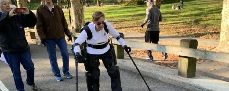 Paralyzed US Veteran Uses Exoskeleton to Complete a Marathon