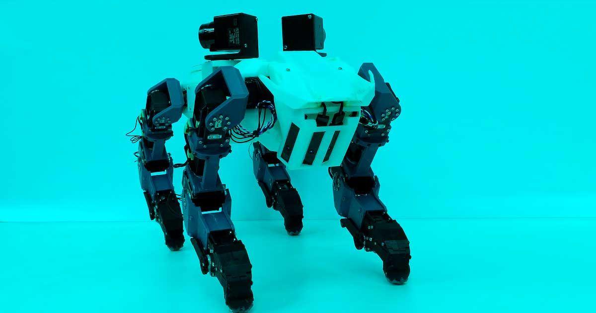 Watch a Dog-Like Robot Climb Straight up a Ladder
