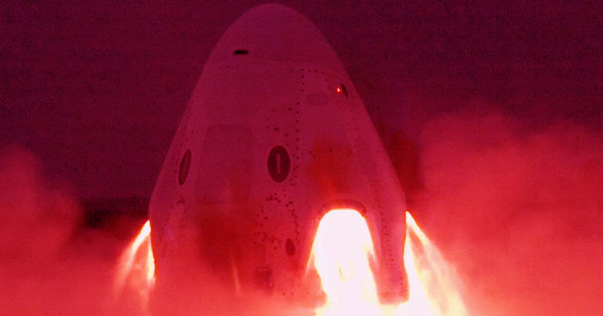 Watch SpaceX's Crew Dragon Fire Its Abort System Engines