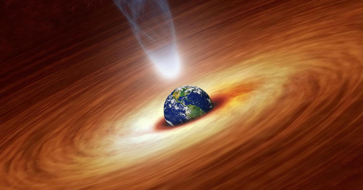 Here's What Would Happen if Earth Collided With a Black Hole