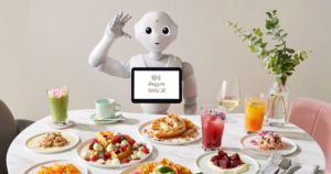 SoftBank Robotics has opened the Pepper PARLOR, a cafe where robots work alongside human staff to serve and entertain customers.