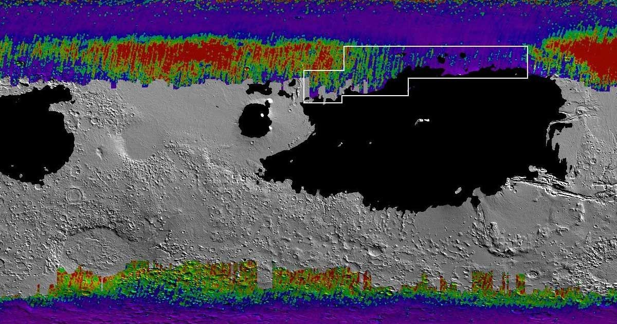 """NASA Releases """"Treasure Map"""" for Water Ice on Mars"""