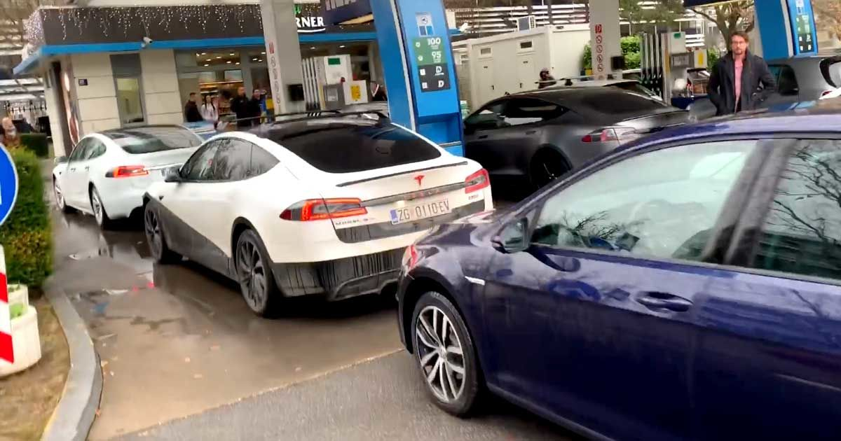 Tesla owners block gas pumps in ICEing protest