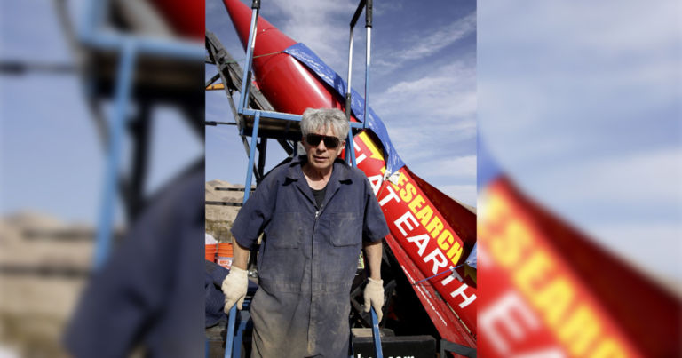 Guy builds rocket to prove Earth is flat, crashes it, dies