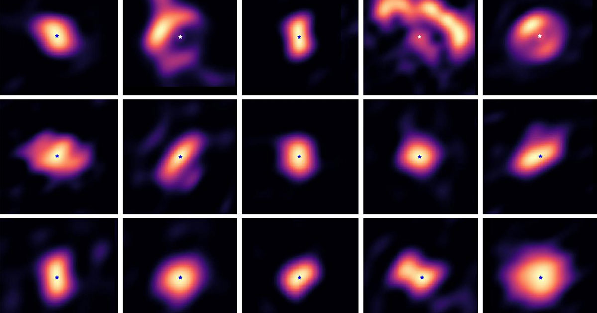 An team of astronomers has managed to take some extremely rare images of the process of planetary systems being born hundreds of light-years away.