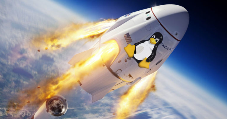SpaceX sent NASA astronauts into orbit using Linux
