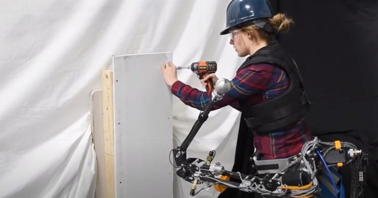 Watch a badass wearable robot arm Hulk smash through a wall
